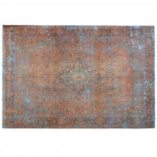 "12'10"" x 9'11"".Overdyed Rugs, Antique Persian rug for living room, Hand knotted, Vintage wool rug, Code : S0101414"
