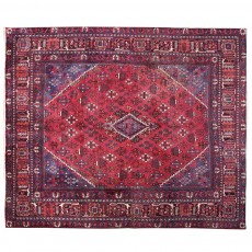 "10'5"" x 9'6"". Luxury Persian rug made of merino wool, Floral Pattern, Hand knotted, Area rug, Vintage wool rug, Code : S0101450"