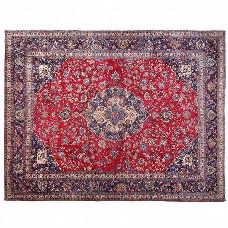 12 7 X 9 6 Floral Pattern Hand Knotted Area Rug Vintage Wool