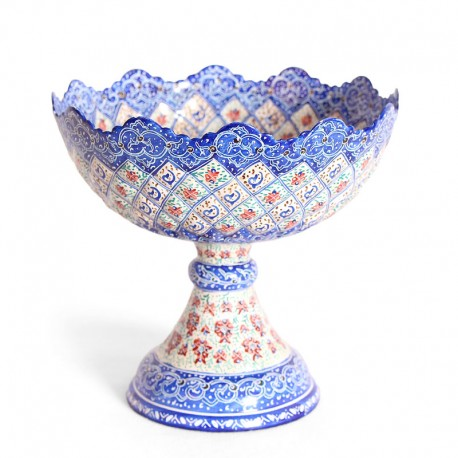 Enamel Pedestal Fruit Bowl