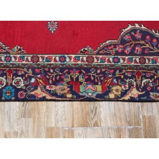 "11'11"" x 9Floral Pattern, Hand knotted, Area rug, Vintage wool rug, Red Rug, Woven Handmade, Code : S0101462"