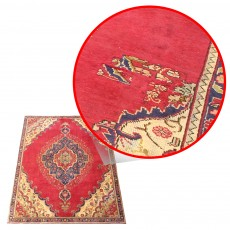 "11'3"" x 7'1"".luxury hand knotted area rug, vintage red carpet, medallion design Code : S0101249"