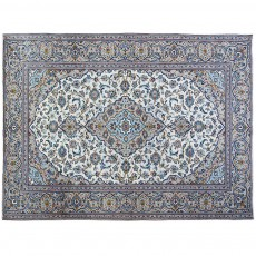 "11'3"" x 8'1"".Organic Colors , Floral Pattern, Area rug, Vintage wool rug, Light Color, Code : S0101470"