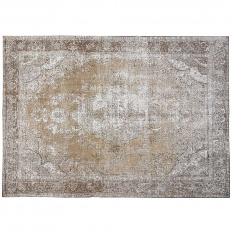 "12'1"" x 9'5"".Overdyed Rugs, Medallion floral design, Hand knotted, Vintage wool rug, Light Color, Code : S0101404"