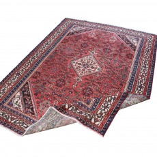 "10'9"" x 8'2"".Vintage Persian rug, Oriental floor carpet, Floral Pattern, Hand knotted, Area rug, Code : S0101435"