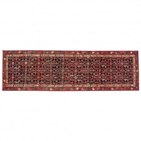 "12'0"" x 3'1"",Runner rug, Vintage wool rug, Red Rug, S0101822"