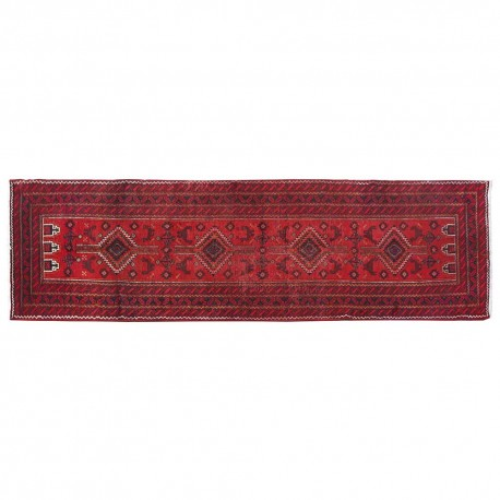 "12'2"" x 3'0"".Organic Colors , Area rug, Vintage wool rug, Red Rug, Beautiful Design,S0101502"