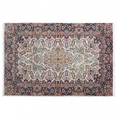 Persian rug made of merino wool, Floral Pattern, Vintage wool rug, Woven Handmade,S0101560