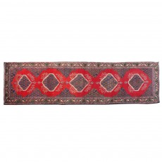 """13'1"""" x 3'5"""".Vintage Persian rug, Geometric Pattern, Hand knotted, Runner rug,S0101547"""