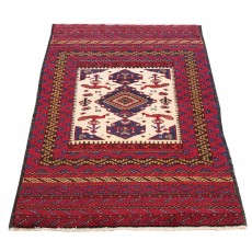 """4'10"""" x 3'0"""",Antique Persian rug for living room, Geometric Pattern S0101591"""