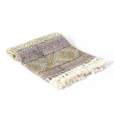 Violet Calico Tablecloth in Diamond Patterns