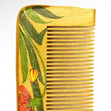 Painted Wooden Comb