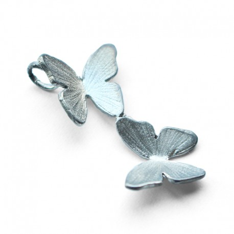 Silver Butterfly Couple Pendant