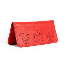 Vermilion Long Wallet in Cowhide Leather