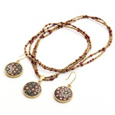 Earrings and Necklace Khatamkari Set