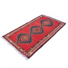 Vintage Two-Sided Bright Red Kilim Rug