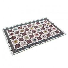 Checkered Nomadic Hand-knotted Exquisite Rug