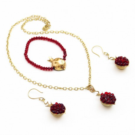 Brass Handmade Pomegranate Set