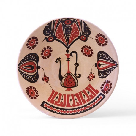 Abstract Neyshabur Pottery Plate – High Copy