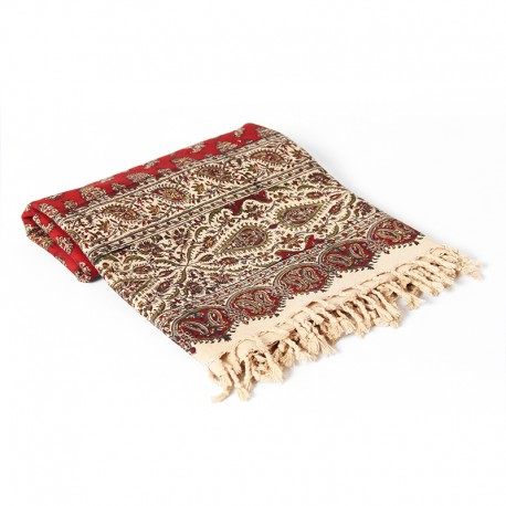 Red Block print Tablecloth (kalamkari)
