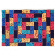 Patchwork kilim with drip painting 16