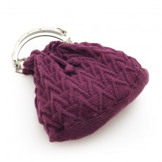 Knitted purple Handbag