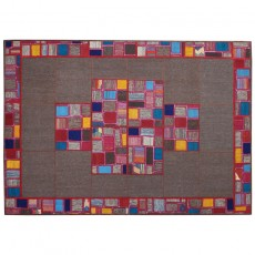 New Persian Modern patchwork kilim