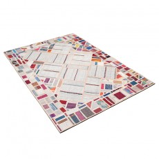 Multilevel surface patchwork kilim
