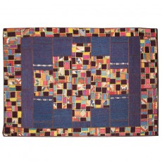 New Persian Deep Blue patchwork kilim