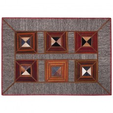 Cowhide Persian patchwork leather kilim