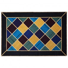 Checkered Modern Persian patchwork kilim