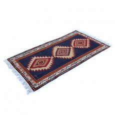 "Persian Vintage ""Three Flowers"" Kilim Rug"