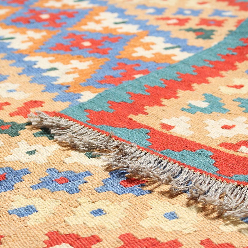 Hand Knotted Persian Kilim Rug –Geometrical Pattern