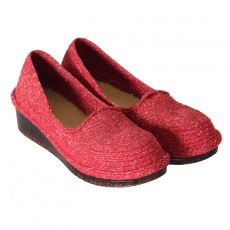 Classy Red Women's Woven Giveh shoes