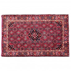 """4'3"""" X 6'5"""" Vintage Classic Persian Rug Floral Design from 1960s"""