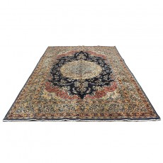 8' X 11' Persian Rug from 1940s , Vintage Classic Antique Persian Rug Made of Merino Wool with Organic