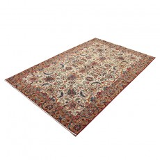 7' X 11' Vintage Classic Persian Rug from 1940s , High Class Antique Persian Rug Made of Merino Wool with Organic Colors