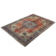 "6'7"" X 9'5"" Persian Rug from 1940s , Vintage Classic Antique Persian Rug Made of Merino Wool with Organic Colors"