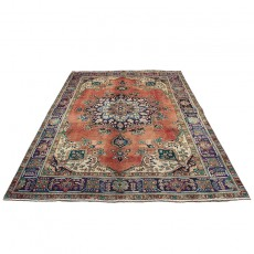 """6'7"""" X 9'5"""" Persian Rug from 1940s , Vintage Classic Antique Persian Rug Made of Merino Wool with Organic Colors"""