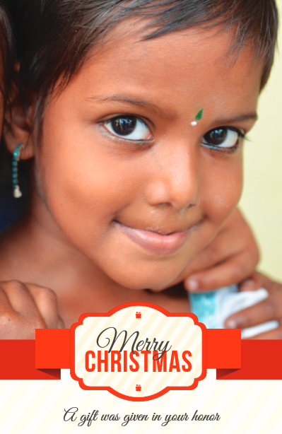 Christmas gift card (India donation)