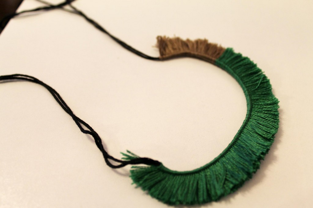 DIY Necklace weaving
